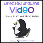 skating penguin directed drawing video
