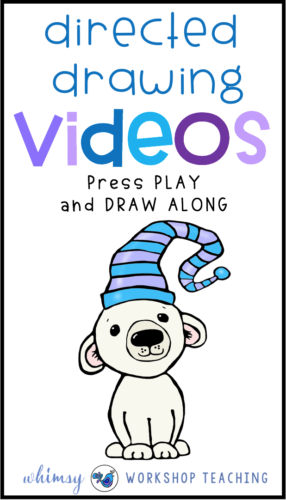 Directed Drawing is a great way to combine drawing and writing skills. Just play these videos in your class and let students draw along! Lots of directed drawing and writing activities for grade one and two! #directeddrawing #art #artforkids