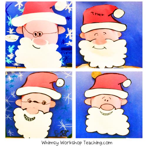 Pop Up Santa art project