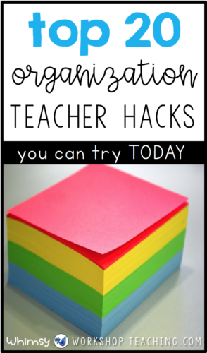 Teacher hack and tips to keep the classroom organized! Teachers can try these organizational hacks today in their classrooms. #organization #classroom #teachertips #teacherhacks #organizedclassroom
