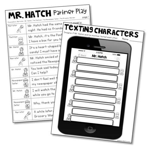 A few pages from Mr. Hatch printables