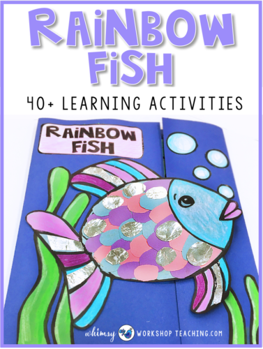 Rainbow Fish Book Companion with over 70 pages of art and writing activities.