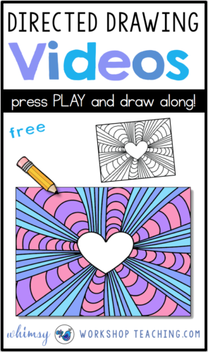 Directed Drawing Videos are a fun way to incorporate drawing and writing activities! Just press PLAY and draw along! #directeddrawing #art #firstgrade #drawing #secondgrade #kidsartideas