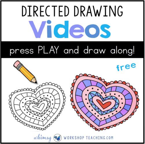 Directed Drawing videos valentine heart 2