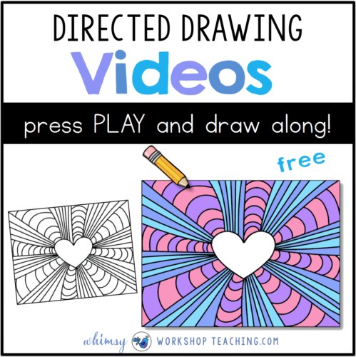 Directed Drawing videos Valentine hearts