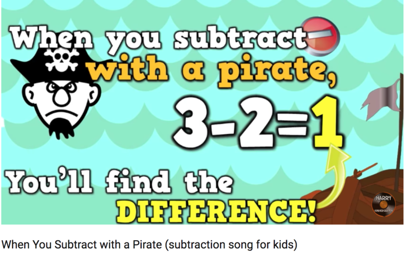 math Subtract with a pirate