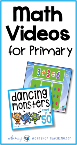 Math videos are a great way to warm up students for math lessons! Sing along to practice skip counting, counting, doubles or any math topic! #math #firstgrade #mathvideos #kindergarten