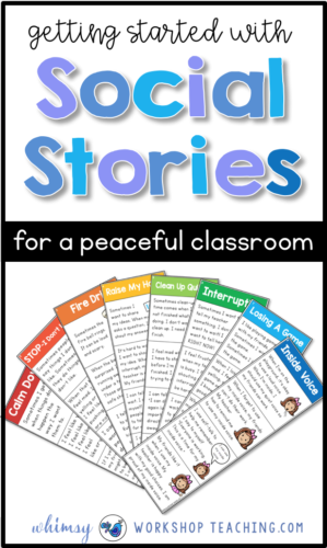 Social stories are a game-changer for teaching social skills and self-regulation in the primary classroom. Read about some practical ideas to create a more peaceful classroom. #SEL #socialemotionallearning #characterdevelopment #gradeone #kindergarten