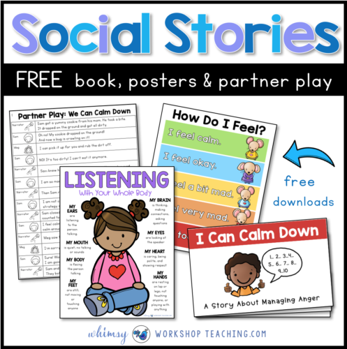 free social stories pages