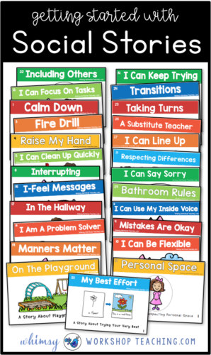 Social Stories are a perfect way to teach essential social skills for a peaceful classroom! Read about how to use and reinforce them (free downloads) #socialskills #characterdevelopment #kindergarten #autism