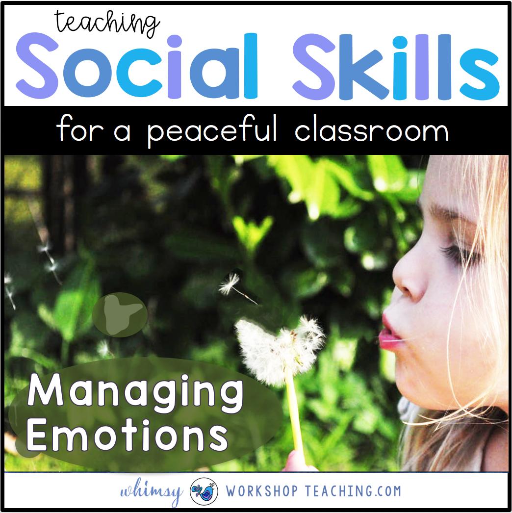 Strategies for Managing Emotions #SEL #Socialskills