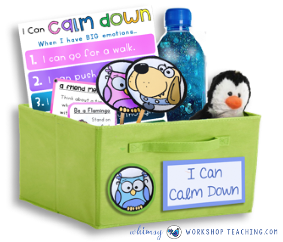 calm down basket to help manage emotions #SEL #Social skills