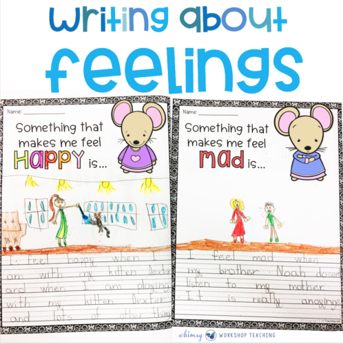 Write about feelings for social emotional learning