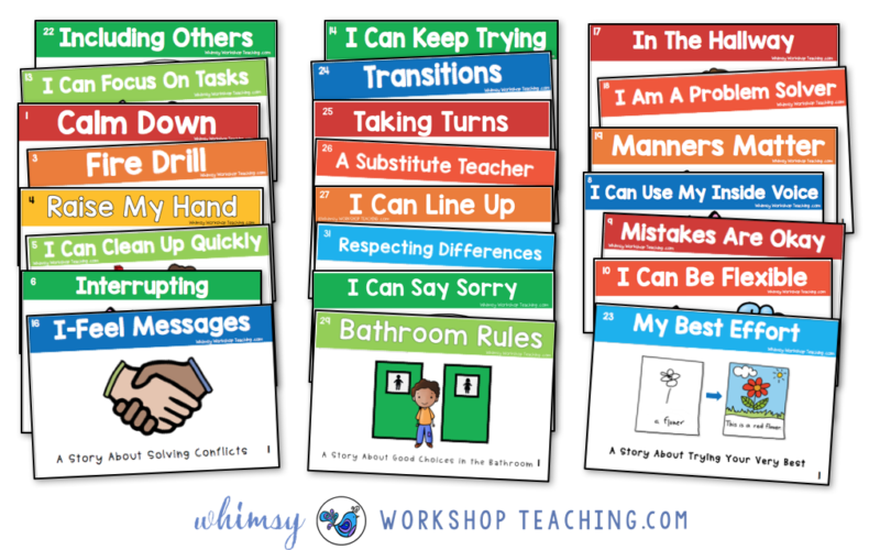 social stories collection for social emotional learning