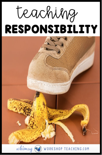 stepping on a banana peel as an example of responsibility and citiezenship SEL