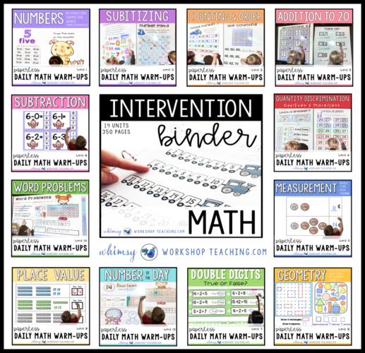 Math Daily Warm Ups and Intervention Binder Bundle