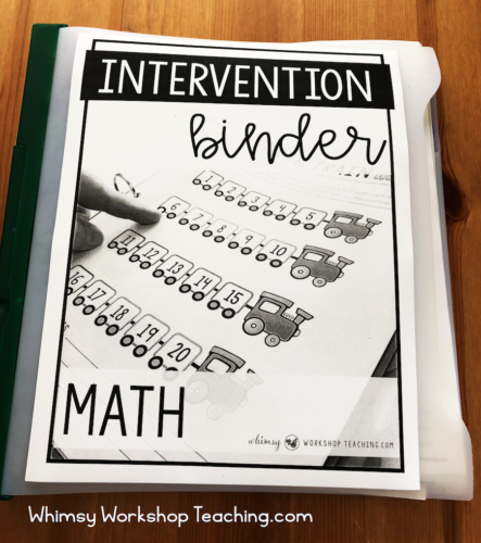 Math Intervention and Assessment Binder for First Grade #mathintervention #firstgrademath