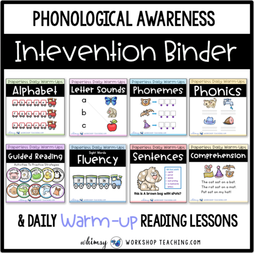 Phonological Awareness lessons and intervention