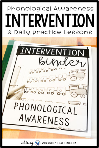 Intervention for reading, phonics, sentences, fluency, guided reading strategies and comprehension at your fingertips! #readingintervention #firstgradereading #kindergartenreading #phonological #interventionbinder