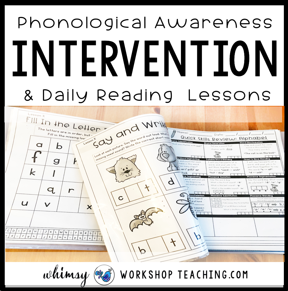 Reading Intervention paperless lessons and intervention binder