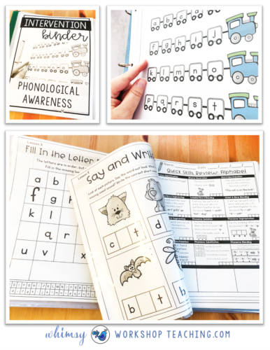 Reading intervention binder for phonics, phonemes, letter sounds, reading strategies and comprehension for the whole year!