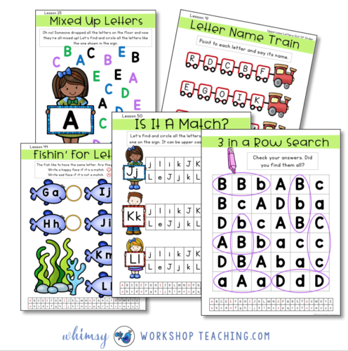 Activities to practice the alphabet