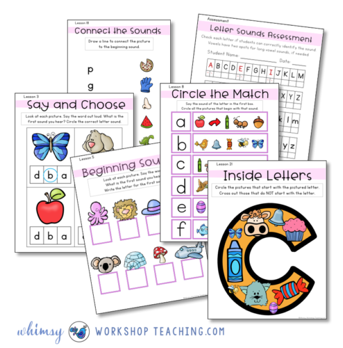 Activities to practice letter sounds
