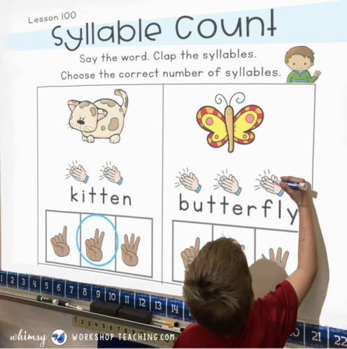 counting syllables and phonological awareness in reading