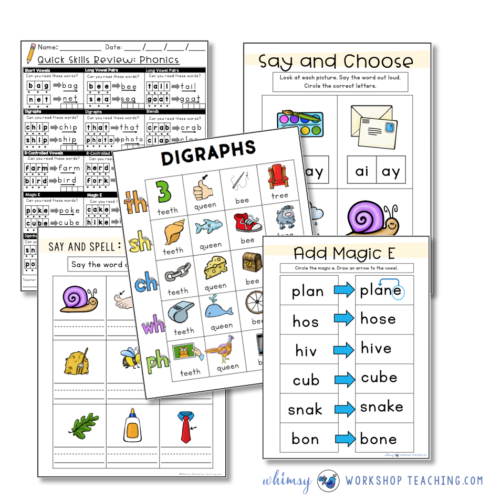 Phonics paperless daily lessons and intervention binder