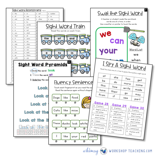Sight word fluency daily practice and intervention binder