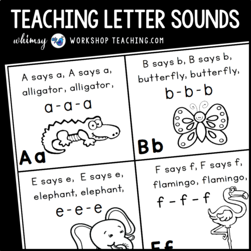 Teaching letter sounds using letter sounds and phonics songs