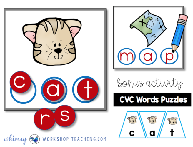 Building Words Phonics Puzzles by Whimsy Workshop Teaching