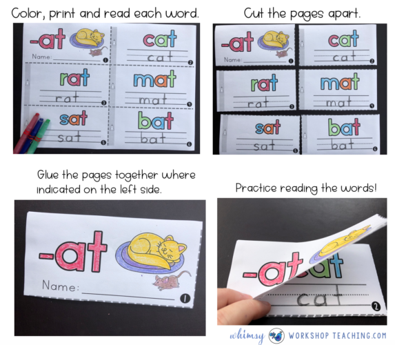 Phonics Booklets by Whimsy Workshop Teaching