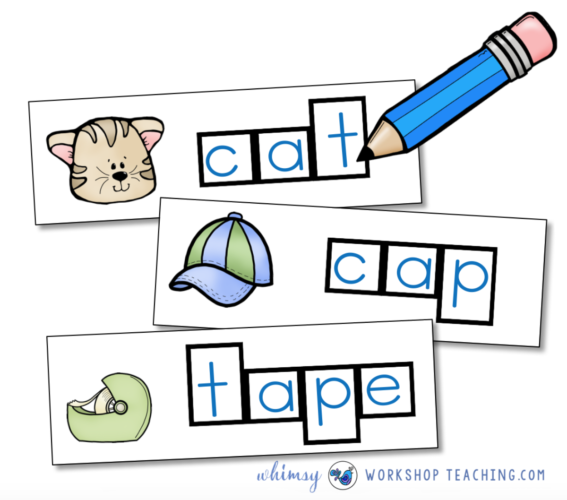 Phonics Spelling Cards by Whimsy Workshop Teaching