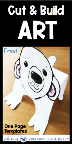 Polar Bear one page simple art craft template free download #firstgradeart #firstgradscrafts #kindergartencrafts