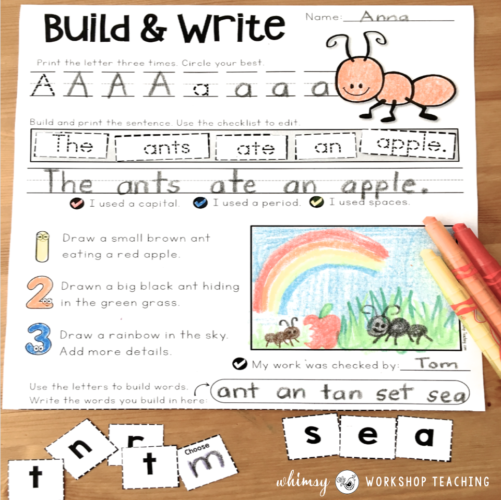 Differentiated phonics writing by Whimsy Workshop Teaching