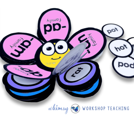 Phonics Flower Flip Books by Whimsy Workshop Teaching