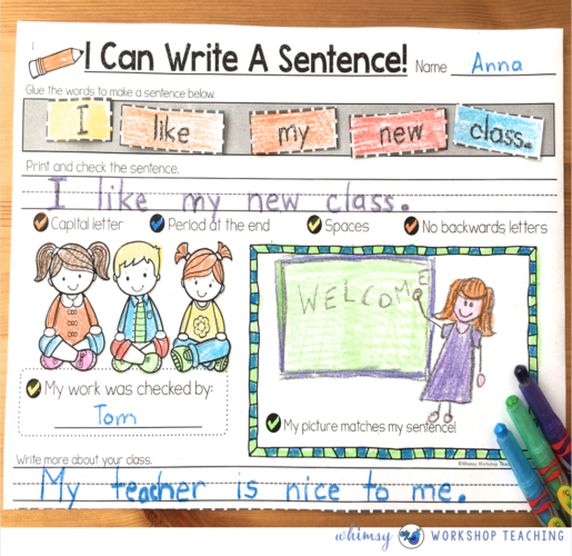 Building Seasonal Sentences by Whimsy Workshop Teaching
