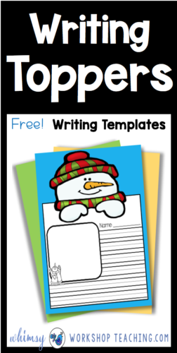 FREE writing toppers for each season on the first grade year with fun writing topics and art! #writing #firstgradewriting #writingtemplates