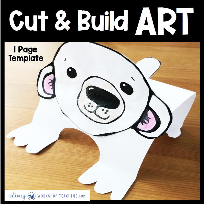 Polar Bear one page craft template