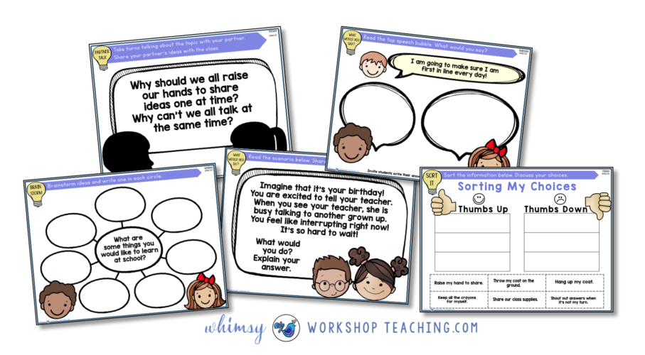 free set of projectable social skills lessons SEL