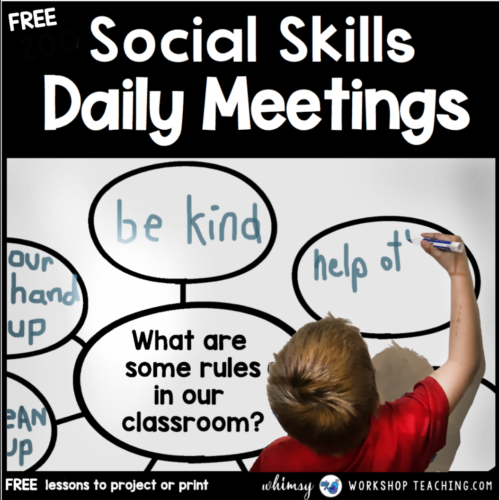 Teaching Social Skills: Daily Group Lessons