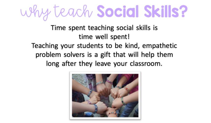why teach social skills