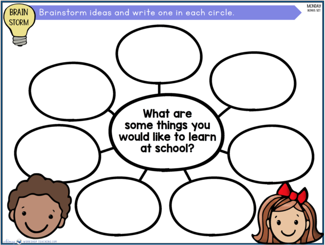 class brainstorm lessons for social skills