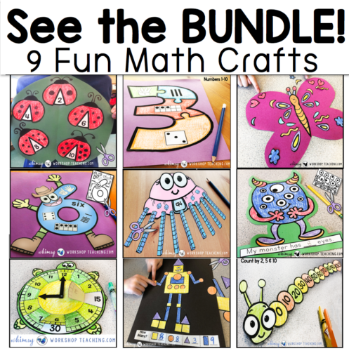 Bundle of nine math crafts