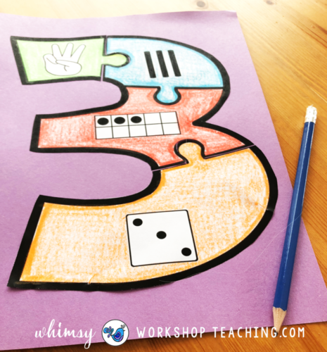 Number Puzzle math craft