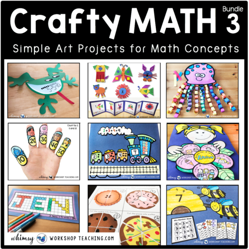 Crafty Math 3 Bundle of Math crafts for primary math concepts
