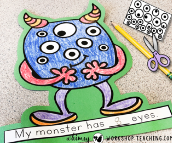 counting monster eyes math crafts