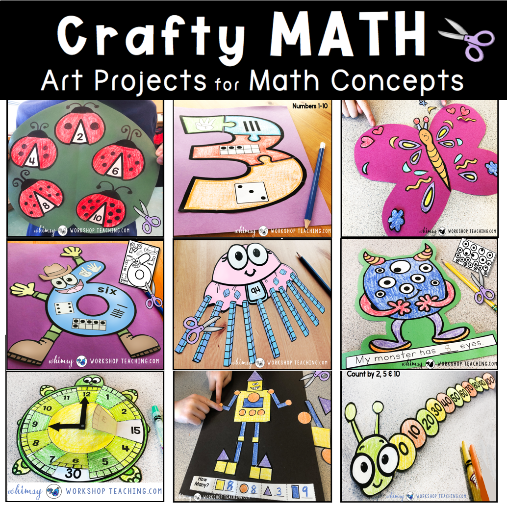 Math Crafts for teaching primary math concepts