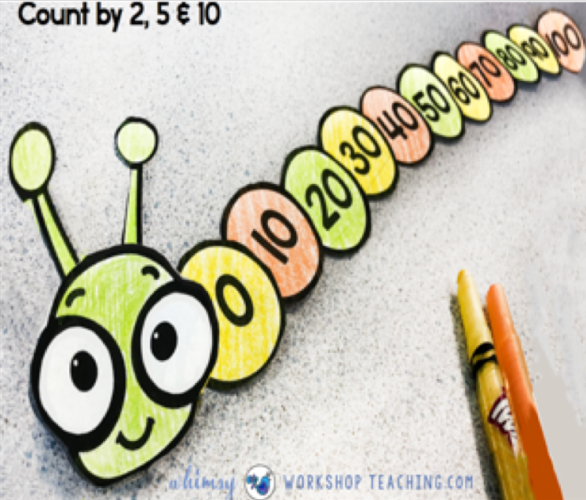skip counting caterpillar math crafts